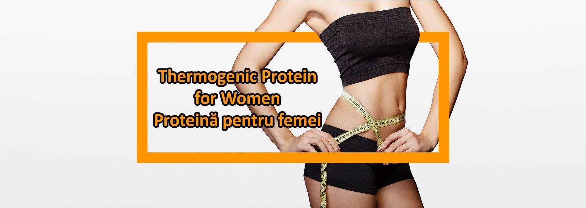 thermogenic protein women banner - proteina pentru femei